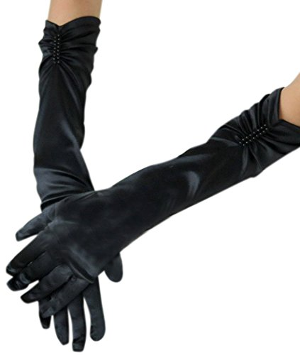 Anmengte Halloween Masquerade Party Cosplay Costume Accessories Gloves (One size, 14-1) (Black Widow Cosplay Costume)
