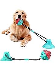 DUBENS Hund leksak napp husdjur läckage foder boll dragkraft interaktiv avkoppling i stora hundtänder rengöring resistenta kindtänder pipande boll