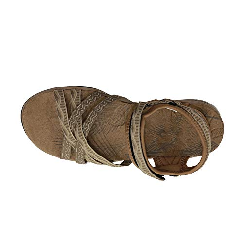 - CuriousLady-sandal Womenals Slip-on Flat Platform Comfortable Flower Shoes Black Pink,Sand,38