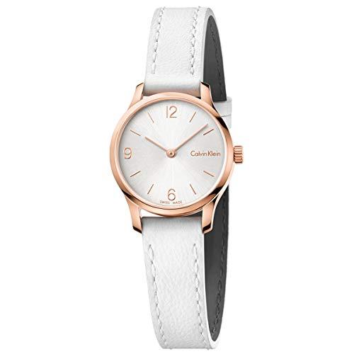Calvin Klein Womens Endless Watch - K7V236L6 Silver/White One Size Calvin Klein Womens White Dial