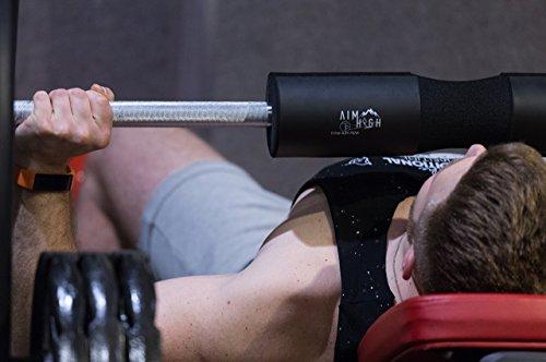 Premium hero barbell squat pad quick release straps