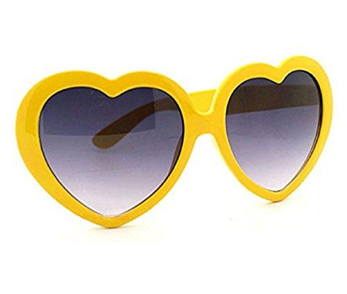Style Lolita Lunettes Jaune Coeur de Uv400 Femme Polarisé soleil qH1wnX1WI