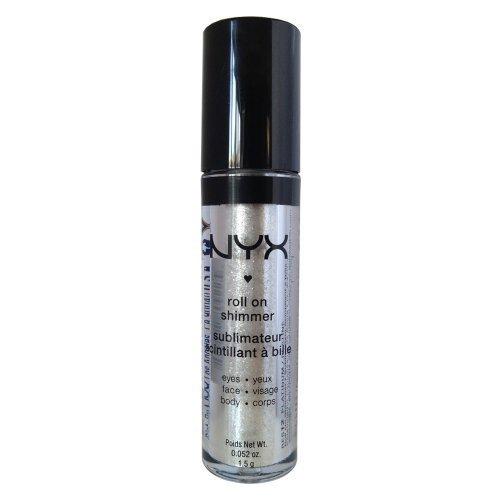 NYX Roll on Eye Shimmer / Platinum-Ice White w Silver Glitter for Face,Eyes&Body