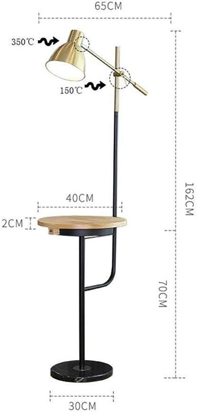 MASOSER Lampadaire en métal à bras articulé E27, noir mat
