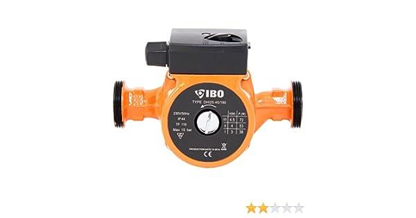 IBO 25-40/180 Bomba de circulación, para calefacción, Bomba para calefacción de agua caliente húmeda: Amazon.es: Amazon.es