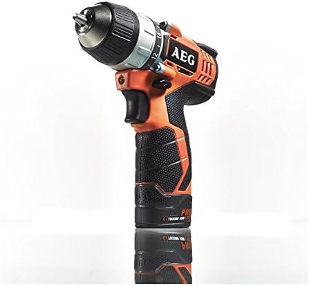 AEG BS12CIQ Simple taladro eléctrico inalámbrico 12 V / 1,5 A portabrocas sin llave, Negro, Naranja
