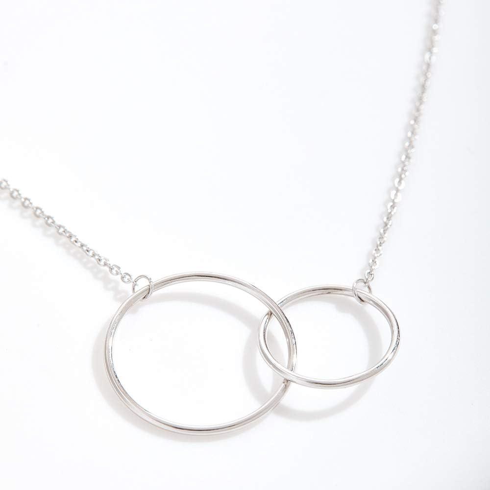 2 Interlocking Circles Aunt-Niece Jewelry Aunt Necklace Aunt-Niece Quotes Dear Ava Aunt-Niece Necklace: Aunt-Niece Gift