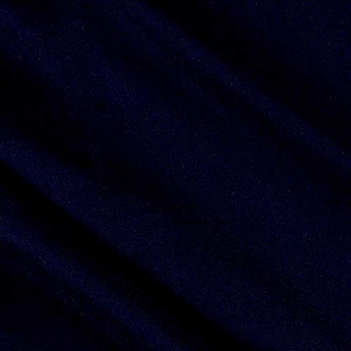 Tuva Textiles 80% Wool/20% Nylon Flannel Fabric, Navy, Fabric By The Yard