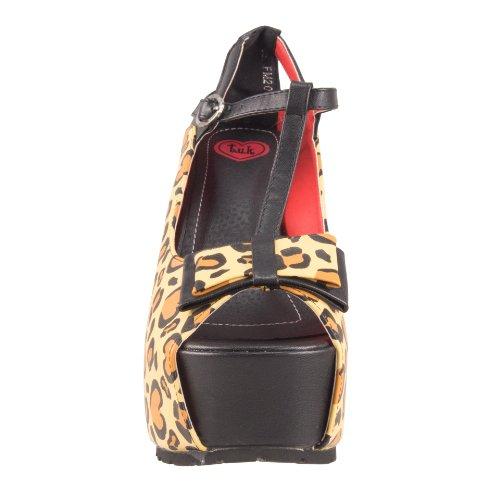T.U.K. A8190L Super Platform Heel Leopard Brown 04vMea