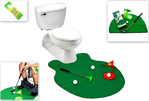 Toilet Golf, Putter Practice in the Bathroom with this Potty Putter, By Barwench Games
