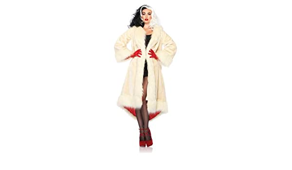 morris costumes Cruella Coat Satin Lined Adult: Amazon.es ...