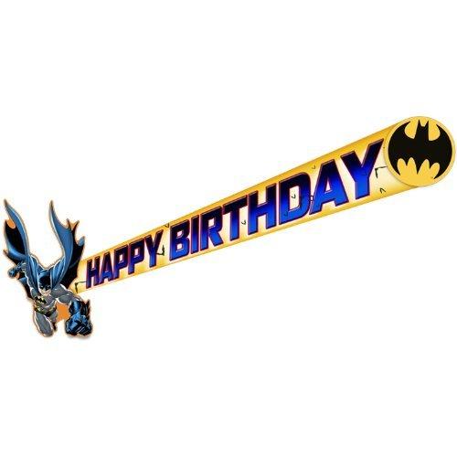 Batman Happy Birthday Party Banner-1 piece]()