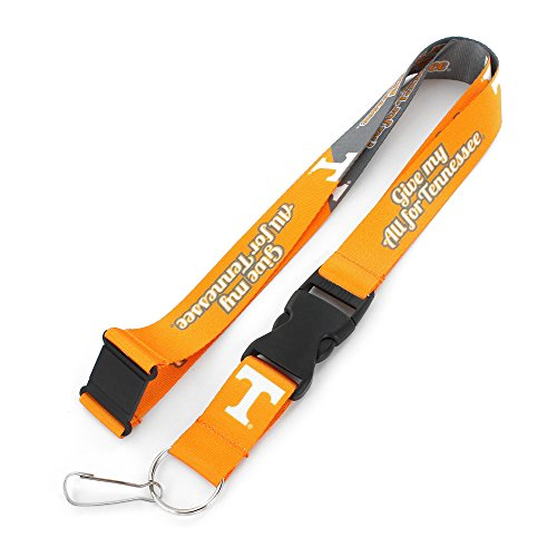 Tennessee Volunteers Ncaa Key Ring - NCAA Tennessee Volunteers Slogan Lanyard Fan Keychain, Orange