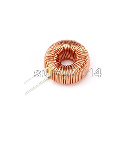Exiron 5PCS Toroid Core Inductors Wire Wind Wound for DIY mah-100uH 6A Coil NEW