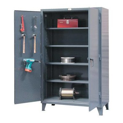 Strong Hold Pegboard Cabinets - 48X24x78'' - Dark Gray by Strong Hold