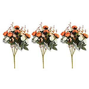 Baosity 3 Bunches Pretty Artificial Rose Big Bunches Silk Flower Home Party Decor Wedding Adornments 32cm 20