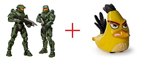 Halo Master Chief 31 inch Action Figure and Angry Birds Speedsters Figure - Chuck - Bundle
