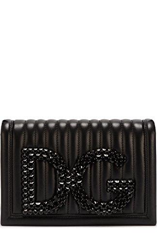 Dolce E Gabbana Women's Bb6498au30980999 Black Leather Shoulder - Bag Black Dolce And Gabbana