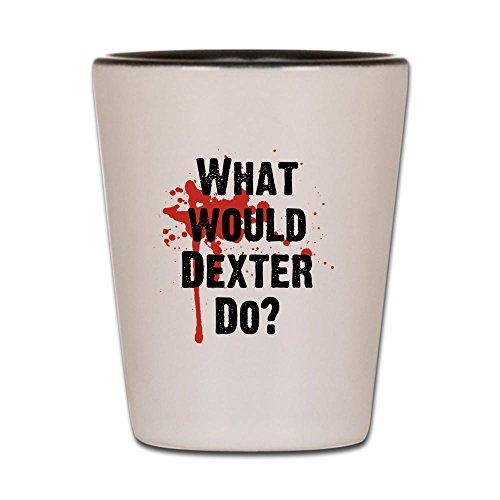 CafePress - What Would Dexter Do Blood Splatter - Shot Glass, Unique and Funny Shot - Dexter Glasses