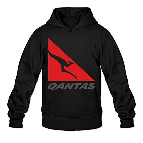 The Flying Kangaroo Classic Men's Hooded Sweatshirts Black -