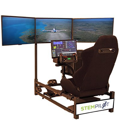 Stempilot Pilot Pro 3 Triple Screens + Flight Simulator