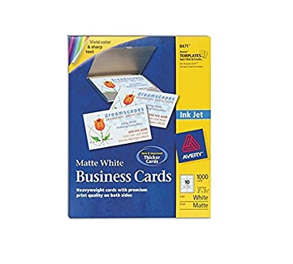 amazon com avery 8471 perforated business cards inkjet white