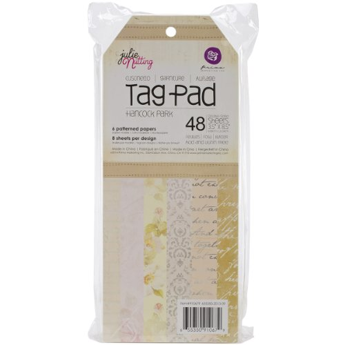 Prima Marketing Mixed Media Doll Tag Pad 3.5 by 8-Inch 48-Pack-Hancock Park ()