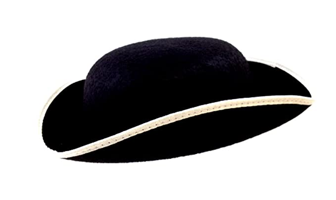 Amazon.com  Jacobson Hat Company Adult Permalux Felt Tricorn Hat- Large   Clothing a4e8bae9c762