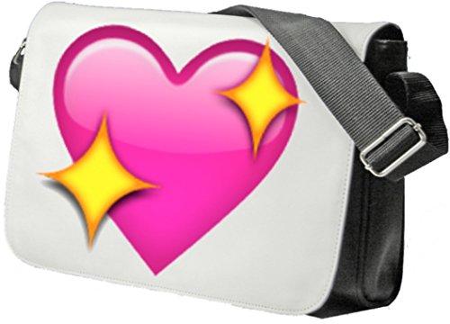 """Schultertasche """"Funkelnde Herzen"""" Schultasche, Sidebag, Handtasche, Sporttasche, Fitness, Rucksack, Emoji, Smiley"""