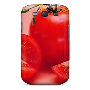 Premium Red Ripe Tomato Back Cover Snap On Case For Galaxy S3 by icecream design