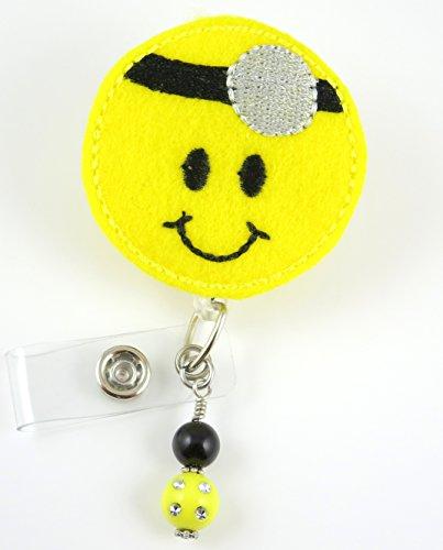 Smiley Doctor Face - Retractable ID Badge Holder - Nurse Badge - Badge Clip - Badge Reels - Pediatric - RN - Name Badge Holder
