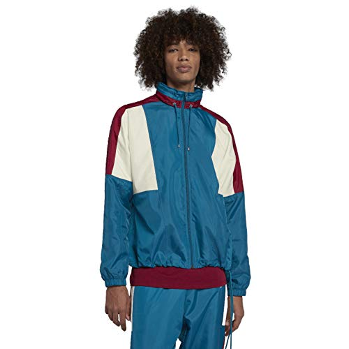 NIKE Sportswear Woven Men's Jacket (Green Abyss/Team Red, Large)