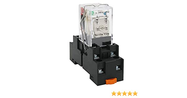Warranty 1 Years HH52P DC 24V Coil 8Pin DPDT 2 NO 2 NC Electromagnetic Power Relay 5A with Socket Base My2j DC24V Taiss