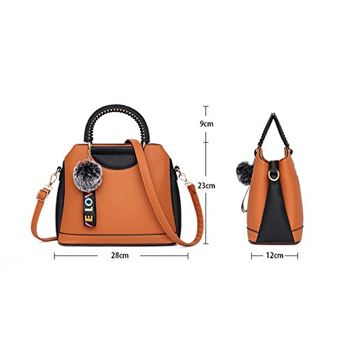 Fashion YXLONG Package Decoration Korean Color darkgreen Handbag Ladies Hair Shoulder Solid Bag Diagonal Handbag Large New Ball qqpRtwxfr