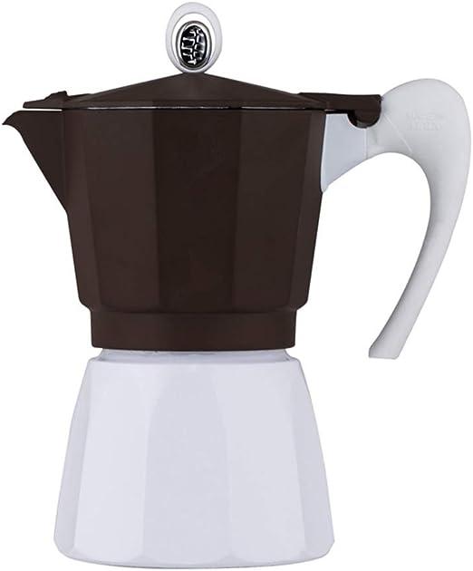 PQXOER Cafetera Moka Espresso Italiano Cafetera Café Appliance cafetera Moka Que Hace la máquina Fabricante de Moka Pot Cafetera Espressos (Color : Brown, Size : 6 Cup): Amazon.es: Hogar