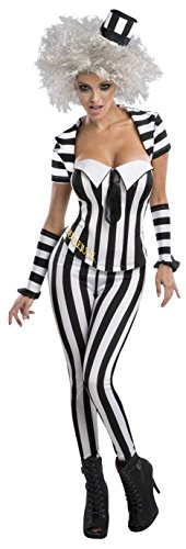 Halloween Beetlejuice Costumes (Secret Wishes Women's Beetlejuice Corset Style Costume, Multi,)