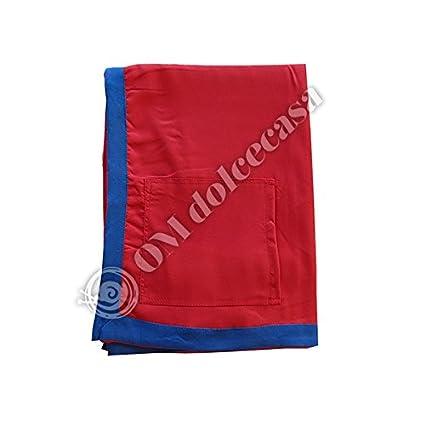 Toalla Playa Piscina Tumbona de microfibra con bolsillo 90 x 170 cm color rojo