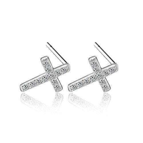 Jet Hematite Pierced Earrings - 9
