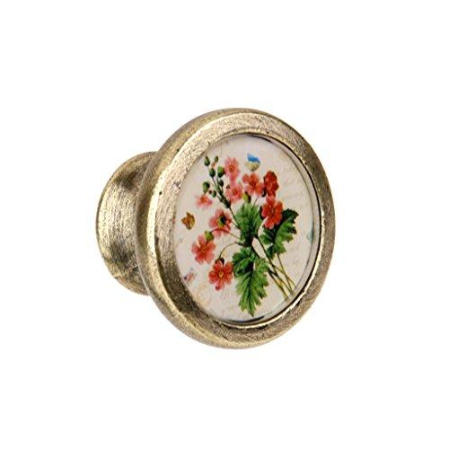 Flower Cabinet Knob Antique Brass - 3