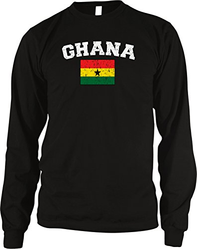 - Amdesco Flag of Ghana Men's Long Sleeve Thermal Shirt, Black Large