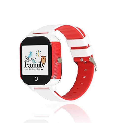 Reloj con GPS para niños Save Family Modelo Junior Acuático. (Blanco)