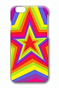 Colorful Star Slim Hard Cover Case For Iphone 6 4.7Inch Cover PC 3D Cases