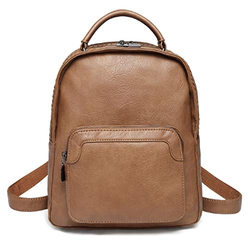 Backpack Casual Girls ChaseChic Teen brown Backpack Daypack 6605 Women Mini Cute Rucksack PU for Purse Leather rO8BwAqr