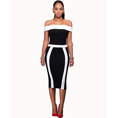 Hot Sale!Women Dress,Canserin Women's 2017 New Off Shoulder Bandage Sleeveless Bodycon Dress Mini Pencil Dress (XL, (80 Dresses For Sale)