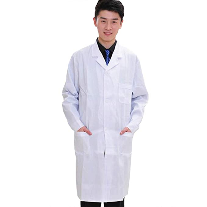 ESENHUANG Uniformes Médicos Hospital Medical Scrub Ropa Mangas Largas para Hombres Doctors Under Lab Coat Medical White Coat: Amazon.es: Ropa y accesorios