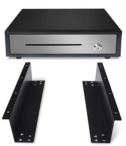 "16"" heavy duty black ""push"" open cash drawer, 5b5c with unde"