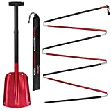 ALPIDEX Combination Package : Aluminium Avalanche Probe and Telescope Snow Shovel, Colour:Red - 320 cm