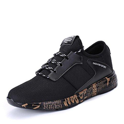 Hombres Zapatos deportivos Respirable Formación al aire libre Zapatos para correr Zapatillas Black