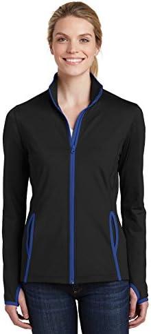 Sport-Tek Women's Contrast Full-Zip Jacket