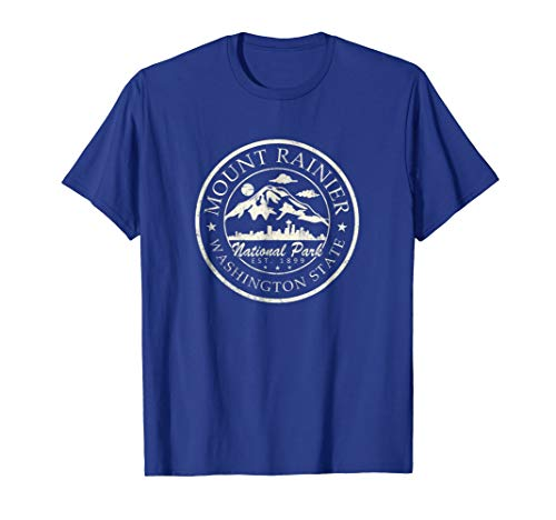 (Vintage National Park Mt Rainier Retro shirt)